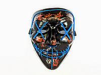 "Неоновая маска ""Судная ночь"" / Светящаяся маска / Led Purge Mask Неон маска  |оригинал|, фото 1"