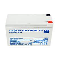 Аккумулятор мультигелевый LogicPower AGM LPM-MG 12 - 7Ah, фото 1