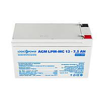 Аккумулятор мультигелевый LogicPower AGM LPM-MG 12 - 7.5Ah, фото 1