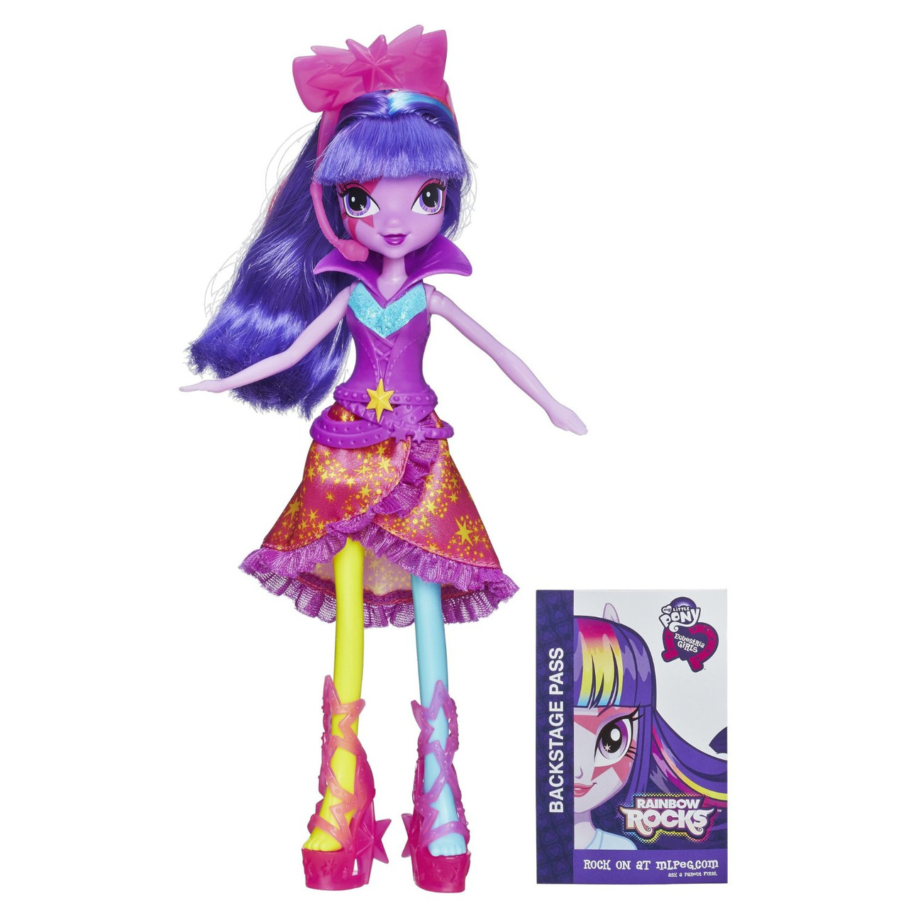 My Little Pony Equestria Girls Twilight Sparkle із серії Rainbow Rocks Neon (Кукла еквестрия  - Искорка)