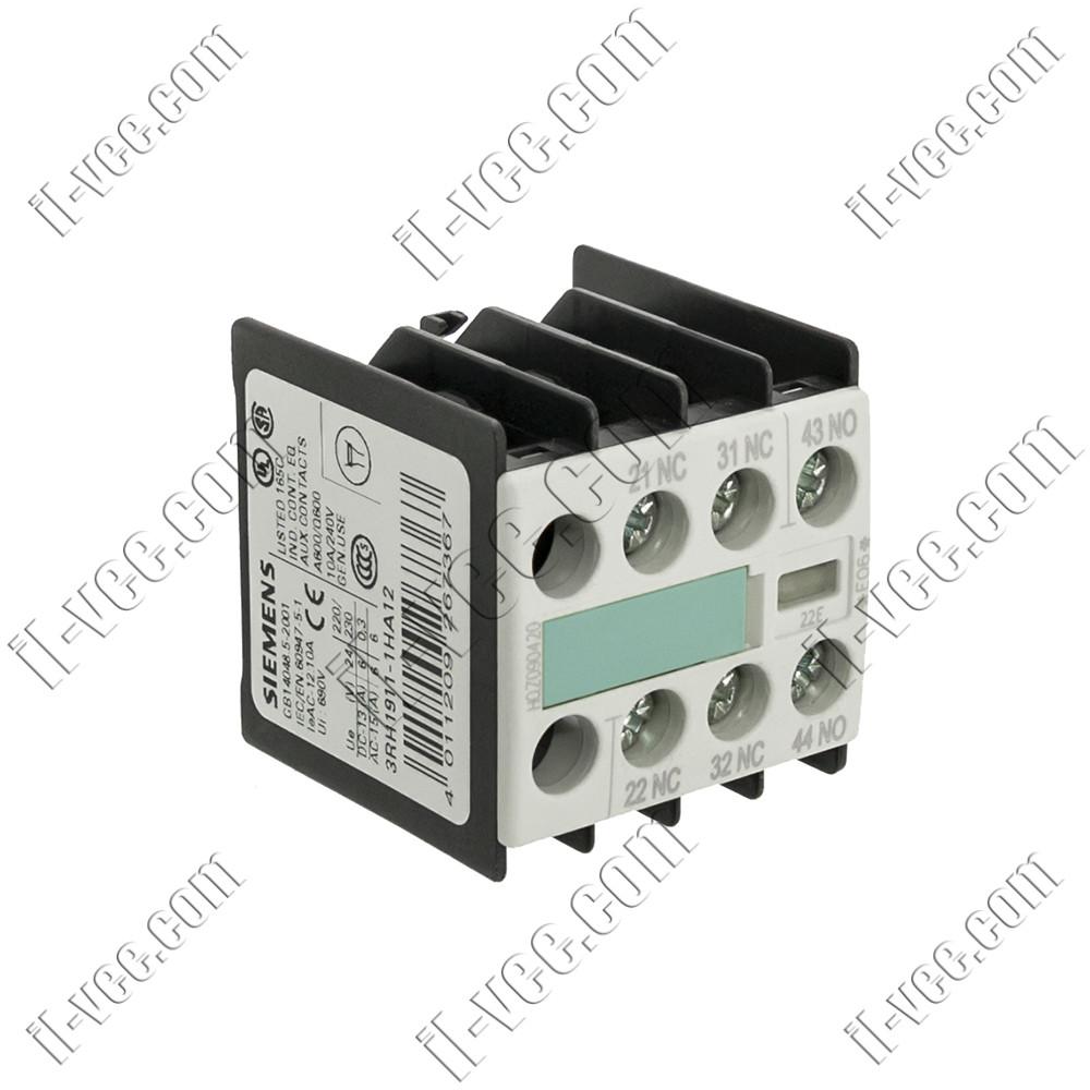 Блок вспомогательных контактов Siemens 3RH1911-1HA12, 1NO+2NC