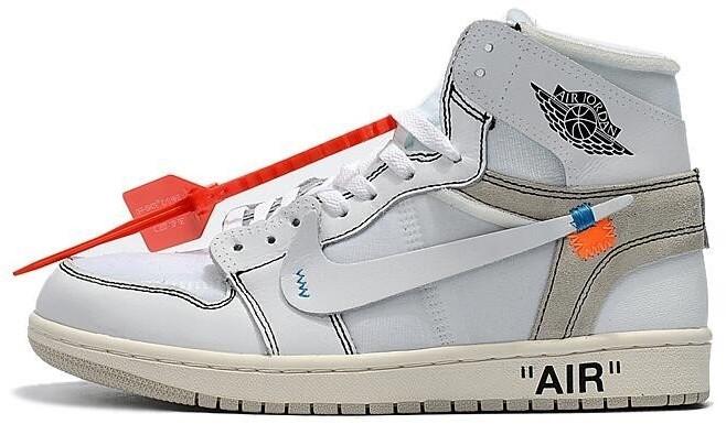 Мужские кроссовки Nike Jordan Off White . ТОП Реплика ААА класса.