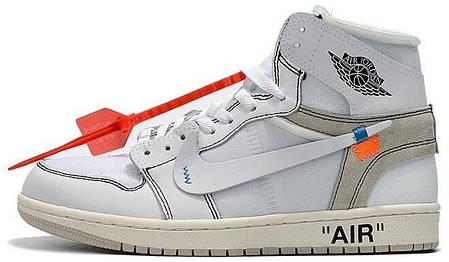 Мужские кроссовки Nike Jordan Off White . ТОП Реплика ААА класса., фото 2