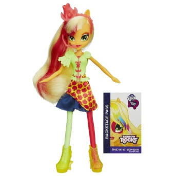 My Little Pony Equestria Girls AppleJack, серія Rainbow Rock (Май Литл Пони Кукла Эплджек серия Сила Радуги)