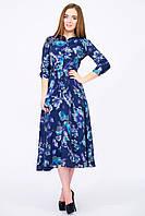 "Платье ретро стиль темно синее ""Сюзи"""