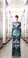Красивое яркий  принт длинное трикотажное платье  в пол  PUCCI , фото 1