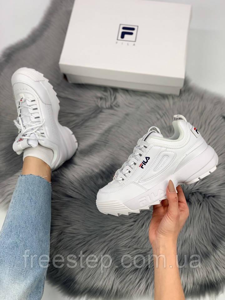 Жіночі кросівки в стилі Fila Disruptor 2, білі