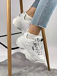 Жіночі кросівки в стилі Fila Disruptor 2, білі, фото 2