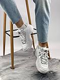 Жіночі кросівки в стилі Fila Disruptor 2, білі, фото 3