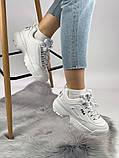 Жіночі кросівки в стилі Fila Disruptor 2, білі, фото 5