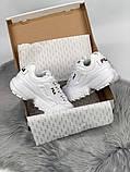 Жіночі кросівки в стилі Fila Disruptor 2, білі, фото 6