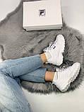 Жіночі кросівки в стилі Fila Disruptor 2, білі, фото 7