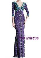 Красивое яркий  принт длинное платье в пол  PUCCI , фото 1