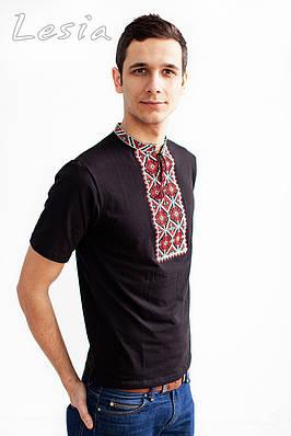 Чоловіча футболка Гайдамацька червоно-сіра