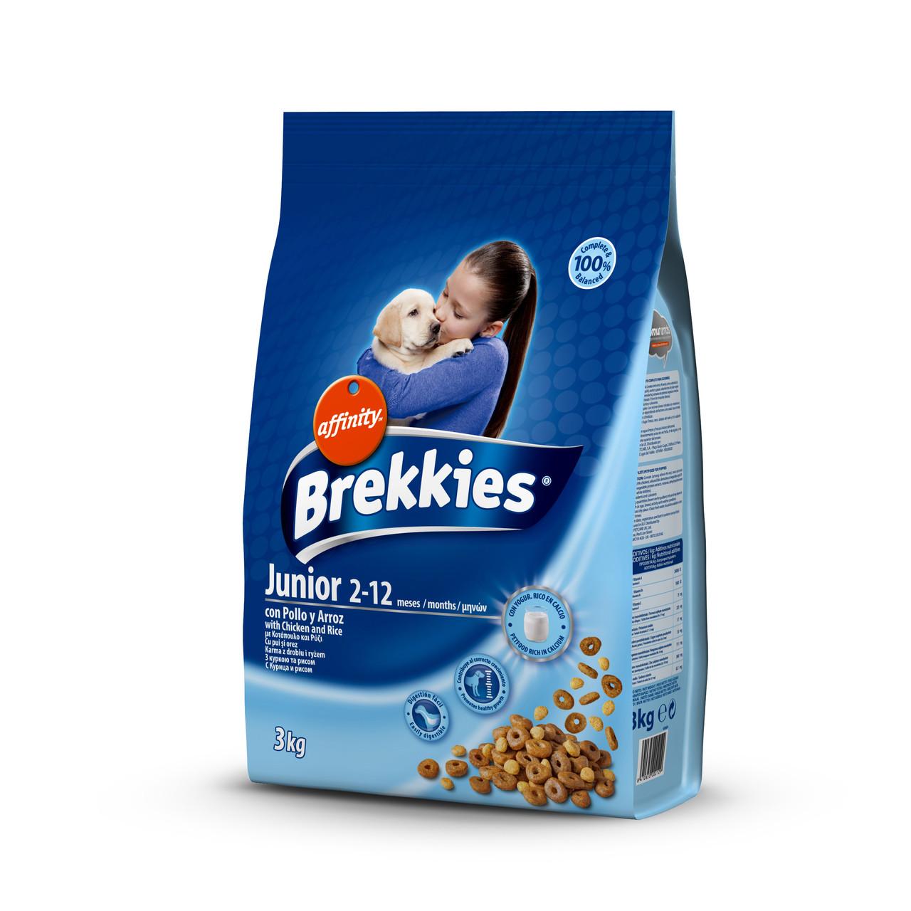 Сухий корм BREKKIES Excel Junior Original для молодих собак кальцiй та Вiтамiни 3 кг