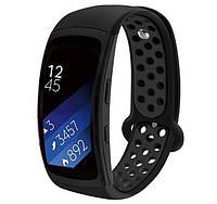 Силиконовый ремешок с перфорацией Primo для фитнес браслета Samsung Gear Fit 2/Fit 2 Pro(SM-R360/R365) - Black