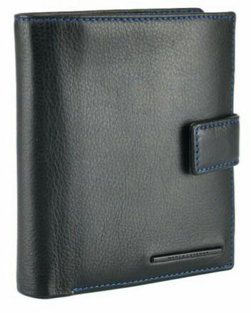 745187716e80 Портмоне мужское Horton Collection TR8994A, кожаное, черное — только ...