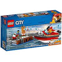Конструктор LEGO City Пожар в порту 97 деталей (60213)