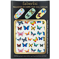 Faberlic Переводные наклейки для дизайна ногтей / Transfer stickers for nail design Бабочки арт.7149 арт 7149