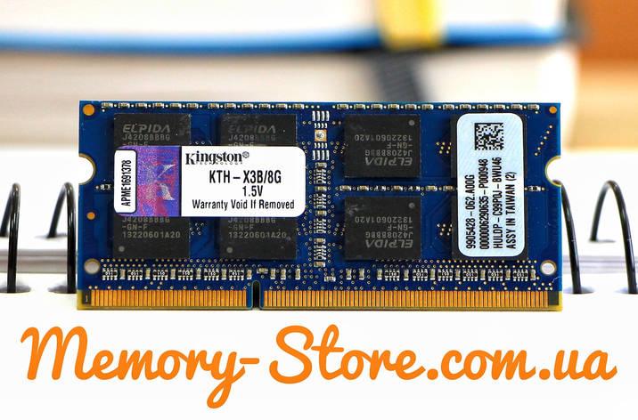 Оперативна пам'ять для ноутбука Kingston DDR3 8GB PC3-10600S 1333MHZ 1.5 V SODIMM (б/у), фото 2