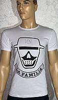 Стильные белые турецкие мужские футболки