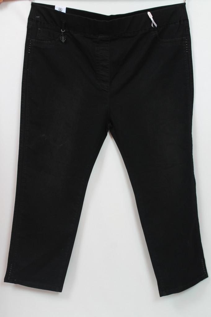Черные классические женские джинсы на резинке больших размеров 64-74