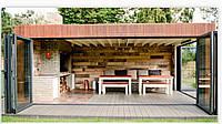 Комплекс барбекю СБК, во двор дома, дачи, загородных клубов отдыха, современный стиль минимализма, ЛОФТ