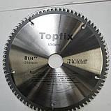 Пильный диск по алюминию. 210х30х80.  TOPFIX. дисковая пила по алюминию., фото 2