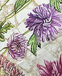 10603-1, павлопосадский платок хлопковый (батистовый) с швом зиг-заг, фото 5