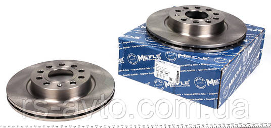 Тормозной диск Фольксаген кадди /Caddy/ Octavia 2004- MEYLE 1155211044 передний вентилируемый [280x22], фото 2