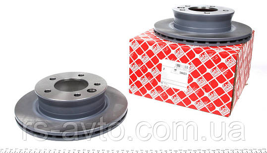 Диск тормозной передний Мерседес Спринтер / Sprinter c 1995 (285*22) FEBI 38623 Германия USA тип, фото 2