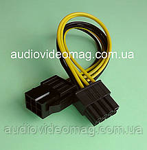 Кабель-переходник с 6 pin на 8 pin для видеокарты