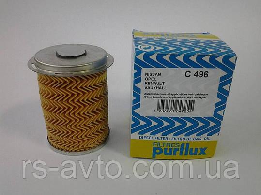 Топливный фильтр (патрон) PURFLUX C496 Trafic Vivaro Primastar Opel Movano 1,9-2,5CDI -2001->Франция, фото 2