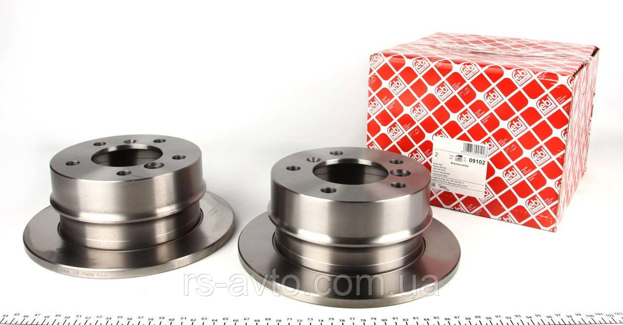 Гальмівний диск задній Спринтер Febi - 09102-Німеччина ( 5 отворів)