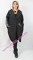 Модный батальный черный  плащик Miss Marissis