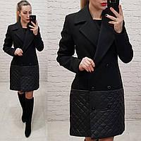 31be87edebf Женское пальто материал кашемир-плащевка подкладка стеганка на синтепон 100  цвет черный