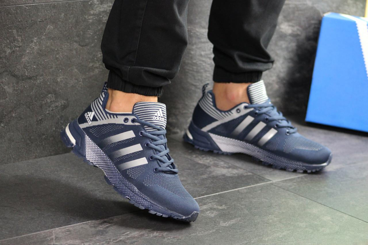 Кроссовки Adidas Fast Marathon,сетка,синие с белым 43