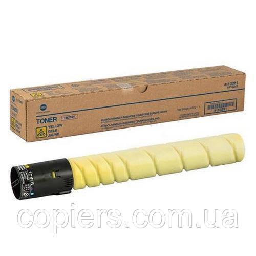 Тонер картридж TN512 Y Konica Minolta Bizhub C454 C554, оригинал, A33K252