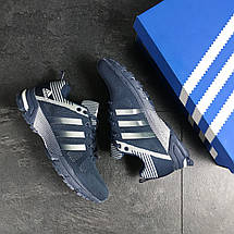 Кроссовки Adidas Fast Marathon,сетка,синие с белым 43, фото 3