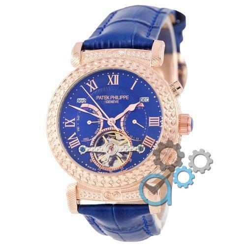 Наручные мужские часы Patek Philippe Grand Complications Power Tourbillon Blue-Gold-Blue