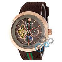 Наручные мужские часы Gucci Pantcaon Brown-Gold-Brown