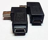 Переходники угловые mini USB-micro USB и  micro USB-mini USB в ассортименте, фото 3