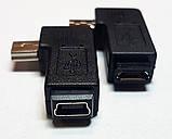 Переходники угловые mini USB-micro USB и  micro USB-mini USB в ассортименте, фото 4