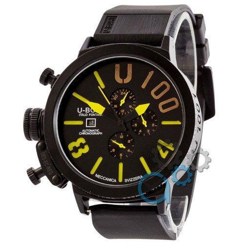 Наручные мужские часы U-boat Italo Fontana All Black-Yellow
