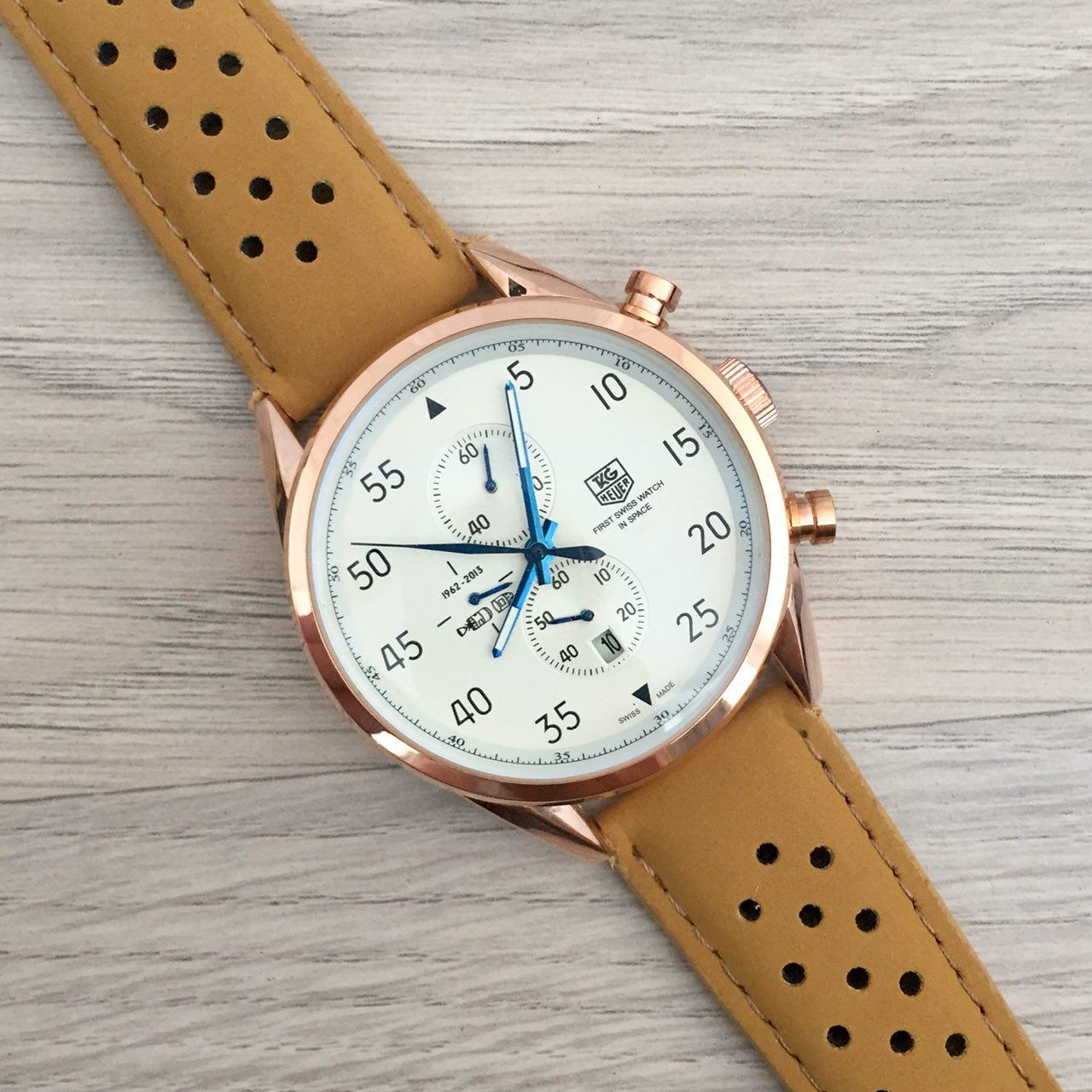 Наручные мужские часы TAG Heuer Carrera 1887 SpaceX Mechanic Gold-White CL