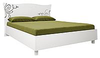 Кровать двухспальная Богема / Bogema MiroMark 160х200 белый глянец