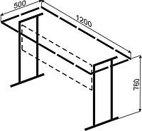 Каркас стола ученического одноместного или двухместного