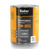 Грунт антикоррозионный ГФ-021 Ролакс чёрный 0.9 кг