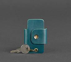 Чехол для ключей кожаный ключница малахит BN-KL-4-malachite