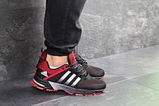 Кроссовки Adidas Fast Marathon,сетка,черные с красным 41,44р, фото 3